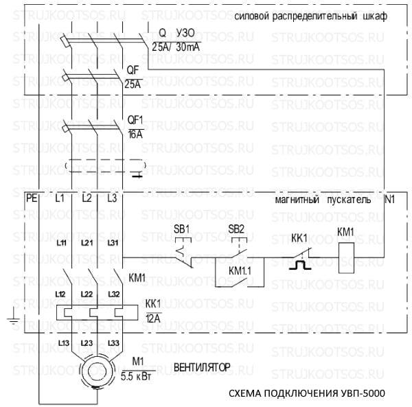 Схема подключения УВП-5000 КОНСАР